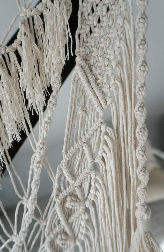 makrama z bawełnianego sznurka