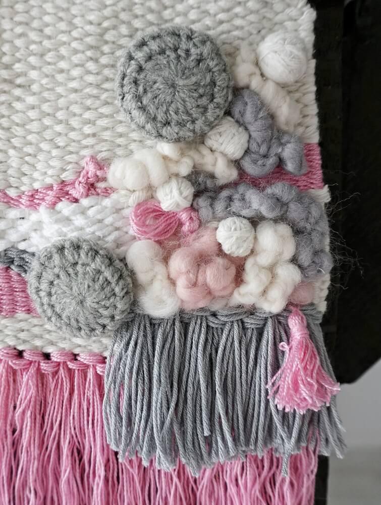makatka różowe sznurki