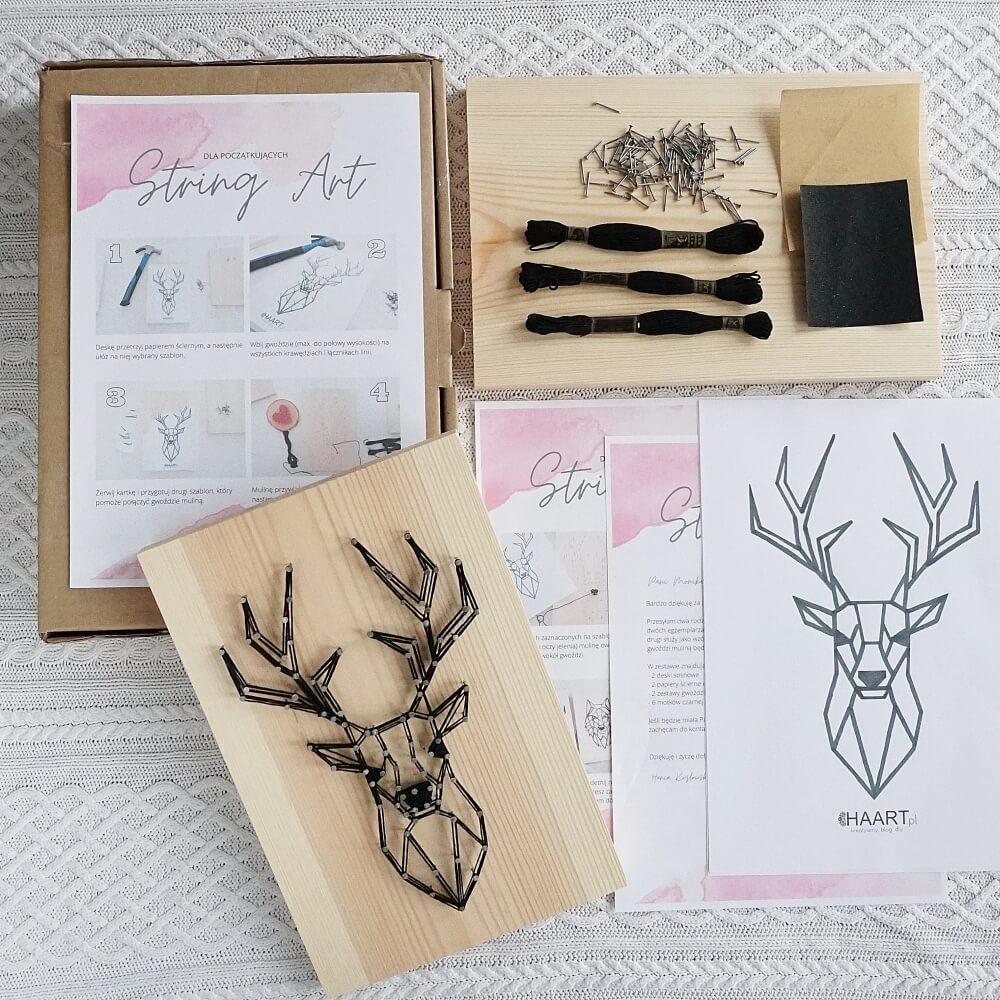 kreatywny zestaw string art jeleń