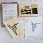 kreatywny zestaw string art koliber